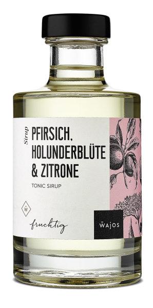 WAJOS Tonic Sirup Pfirsich, Holunderm Zitrone  200